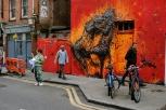 Street art near Shoreditch, in East London